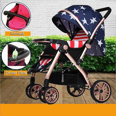 Baby Kids Toddler Reversible Pram Stroller Pushchair Jogger With Sleep Bassinet