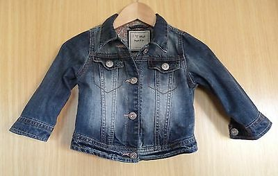 Next Baby Girls Denim Jacket Age 9 12 months Blue Casual Cute  Summer