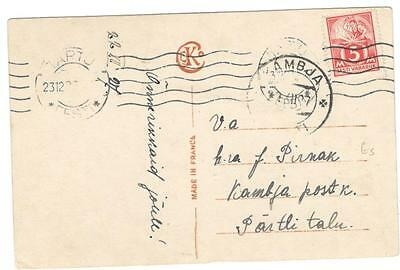 a139 Estonia colour postcard sent from Kamja