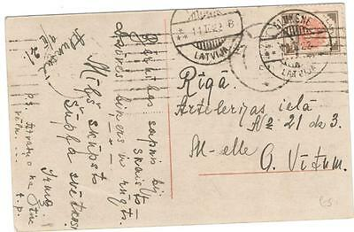 a141 Latvia postcard sent internally