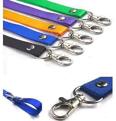 1x Hot Business Neck Strap Lanyard For ID Name Badge Key Chains Metal Clip Lot
