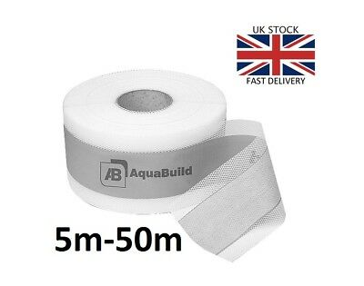 5m - 50m AQUA BUILD Waterproof Tanking Tape Wet Room System Bath Shower