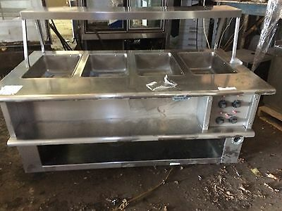 LowTemp 4 Pan Well Electric Steam Table Buffet Portable Serving Line Hot Well