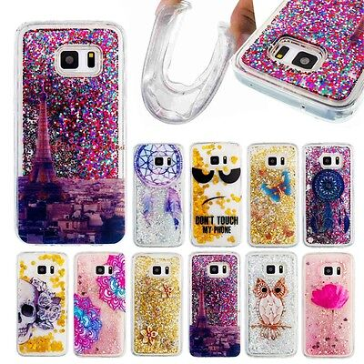 New Quicksand Glitter Bling TPU Soft Silicone Back Case Cover Skin For Samsung
