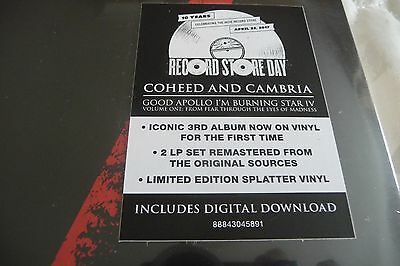 Coheed & Cambria Good Apollo I'm Burning Record Store Day Rsd 2017 Splatter 2Lp