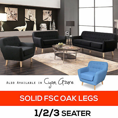 Fabric Sofa Set Modular Lounge Suite Chaise Futon Couch Seat Indoor Furniture