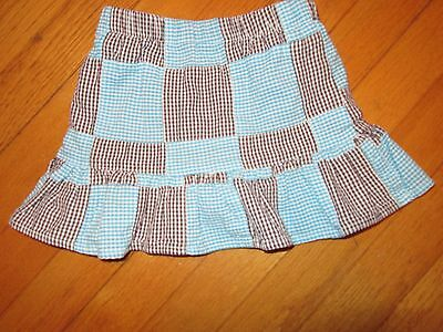 Kelly's Kids Seersucker Patchwork Skirt/Skort Size 2 (2T)