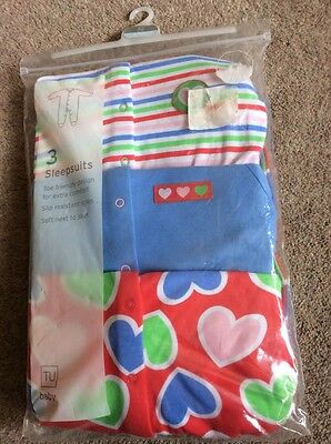 6-9 months baby girls sleepsuits new in pack Tu