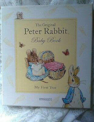 New Peter Rabbit My First Year Baby Book  Boxed