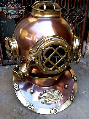 MORSE US Navy Mark V Diving Divers Helmet Solid Steel & Brass
