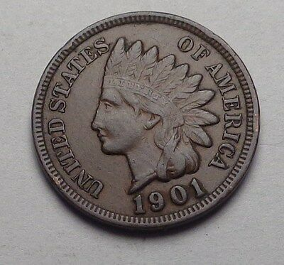 1901 Indian Head Cent,full Liberty,nice Coin!!!(I)