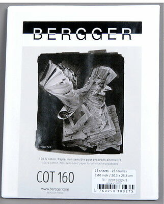 Bergger Art Paper COT160 8 x 10 25 sheets for Alternative Printing