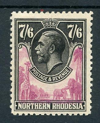 Northern Rhodesia 1925-29 7/6 rose-purple and black SG15 MM