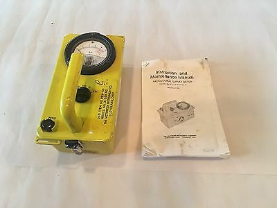 Victoreen CDV-715 Model 1A Radiological Survey Meter With Instructions