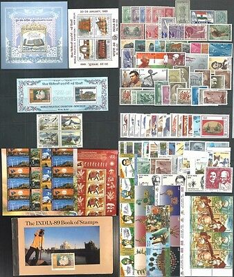 India P.o. Fresh Stamps, S/s & Booklet Mnh Lot .more Scans