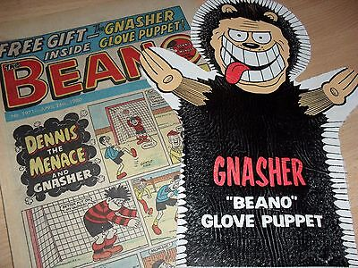 Beano Comic & Gnasher GLOVE PUPPET - 26th April 1980