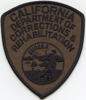 CALIFORNIA CA STATE DEPARTMENT OF CORRECTIONS REHAB DOC SUBDUED police PATCH