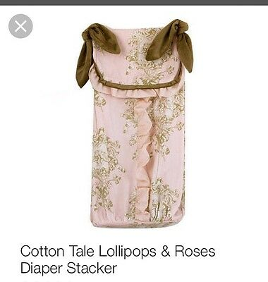 Cotton Tale Design Lollipops And Roses Diaper Stacker Pink Brown Baby