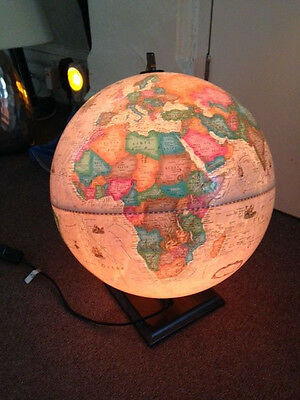 "12"" Replogle Globe, raised relief AND illuminating, perfect condition!"