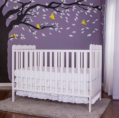 Crib Convertable Child Bed 3 in 1 Baby Toddler Nursery Furniture Dream On Me New