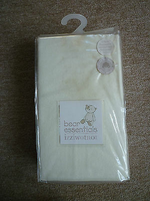 Cot/Cot Bed sheets pack of 2 Cream Flat Flannelette 100% cotton-still bagged,new