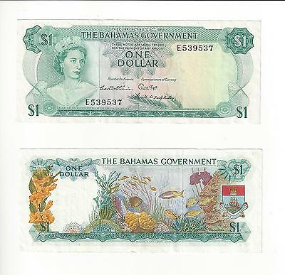 Bahamas  1 Dollar,  Bahamas Government    Nice Vf