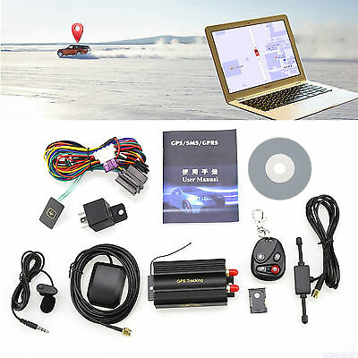 GPS/SMS/GPRS Tracker Vehicle Car kit Realtime Tracking System Locator TK103B