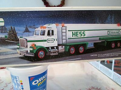 1990Hess Truck New in Original Box NEVER USED.  Horn,head & tail lights.