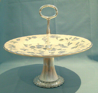 BHS Blue Bristol Stunning Large Footed Cake Stand - VGC - Free P&P