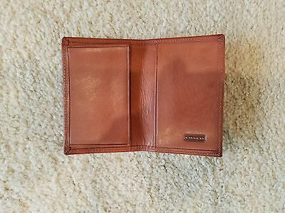 Coach Saddle Brown Leather Credit Card/Business Card Case