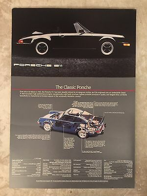 1987 Porsche 911 Family Showroom Advertising Sales Poster RARE!! Awesome L@@K