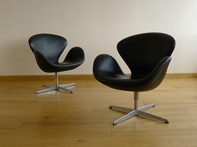 2 fauteuils Swan chair Arne Jacobsen 1958 by Fritz Hansen