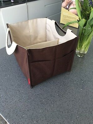 Rare! Skip Hop Nappy Organiser Brown And Cream