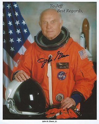 "AUTHENTIC JOHN GLENN AUTOGRAPHED 8"" x  10""  NASA PHOTO"