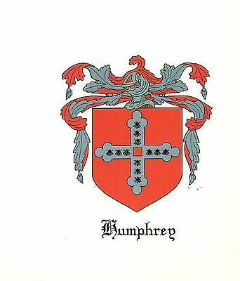 *Great Coat of Arms Humphrey Family Crest genealogy, would look great framed!