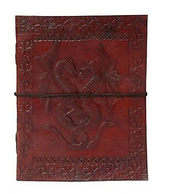 Zap Impex Double Dragon Leather Journal Bound Handmade Diary Gift Book Sketch...