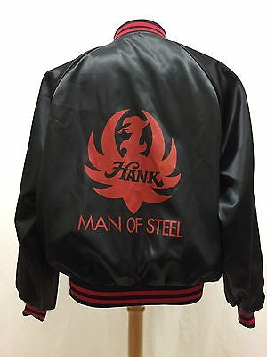 RARE Vintage 1983 Hank Williams Man Of Steel Satin Jacket Size XL Made In USA