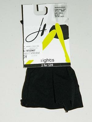 Hanes Women's Footed Control Top Tights Nylon Blend Black NWT Size S TT71