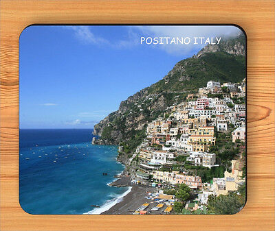 SOUVENIR FROM VILLAGE POSITANO, ITALY MOUSE PAD -hfg5Z