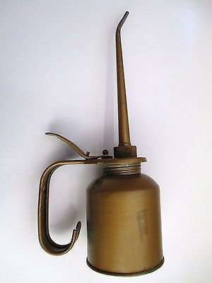 Vintage Eagle Thumb Pump Metal Oil Can Oiler - 10""