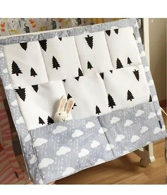 Baby Kids Nursery Cot Tidy Storage Hanging Nordic Monochrome Mobile Clouds Black