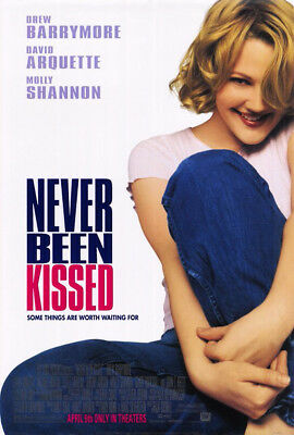 Never Been Kissed (1999) Original Movie Poster  -  Rolled