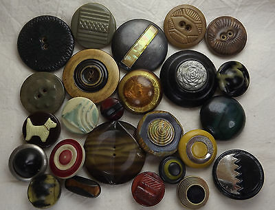 Lot of Beautiful Tight Top Buttons - Bubble Tops - Realistics - Art Deco