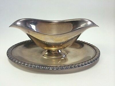 Vintage Silverplate Gravy Sauce Boat Sugar Dish Candy Nut Bowl