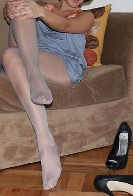 Calze collant usate colore fume'. Pantyhose used. misura unica. Work Tights