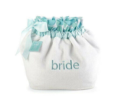 Mud Pie Bride Personal Care Terry Cloth Embroidered Pouch