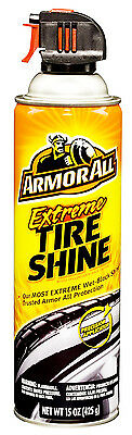 Armor All EXTREME TIRE SHINE AEROSOL Extra Gloss Wet-Black 1-STEP APPLICATION