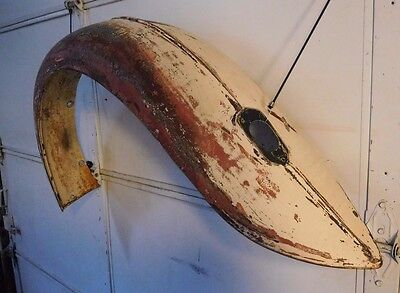 MG  TD Rear Left Fender- Rustfree Original - Great One To Work With   #2