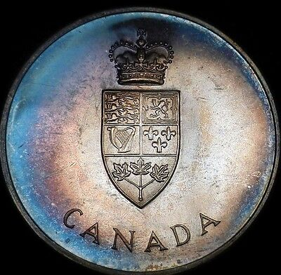 1967 Centennial Canada 100th Anniversary Silver Mint Set In OGP Toned Medal