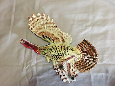 Vintage 50's Rossini Ceramic Tom Turkey 3D Wall Plaque Wall-Pocket Wall Decor